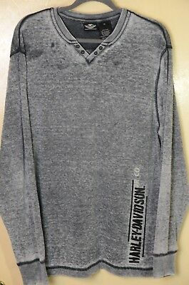 Harley Davidson Motorcycles Long Sleeve Thermal Shirt Men's Size XL
