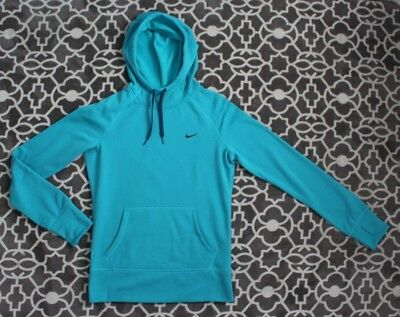 998b085a30ff NIKE WOMENS SMALL Aqua Blue Athletic Hoodie Therma Fit -  24.99 ...