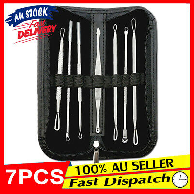 7Pcs Set Pimple Tool Clip Comedone Acne Extractor Blackhead Remover Blemish Kit