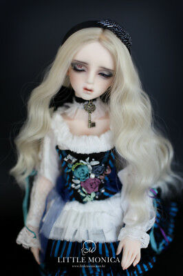 """Fashion 1/3 8-9"""" BJD Wig High Temperature Long Wavy Wig For BJD Doll Party Gifts"""