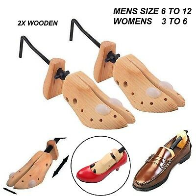 2x SET MEN or WOMEN SHOE STRETCHER TREE WOODEN SHAPER BUNION CORN STRETCH NEW
