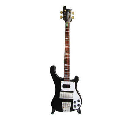 Jack Daniels Electric Bass Model Miniature Guitar Replica Collectible 000124397
