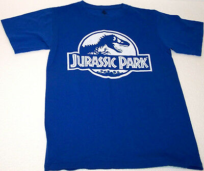 JURASSIC PARK Logo SMALL Blue Tee shirt movie