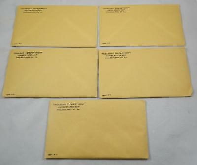 1963 US 5 Coin Silver Proof 5 Set Lot All Original Mint Sealed Envelopes CB400