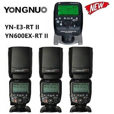 Yongnuo YN600EX-RT II Speedlite Flash Light +YN-E3-RT II Transmitter f Canon Kit