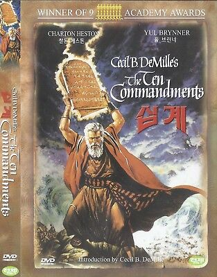The Ten Commandments (1956) Charlton Heston / Yul Brynner DVD NEW *FAST SHIPPING