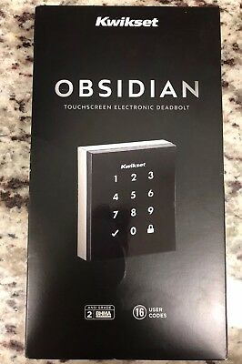 Kwikset Obsidian Keyless Touchscreen Electronic Deadbolt Satin Nickel