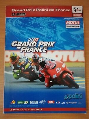 Programme officiel Grand Prix de France ACO au Mans 2003
