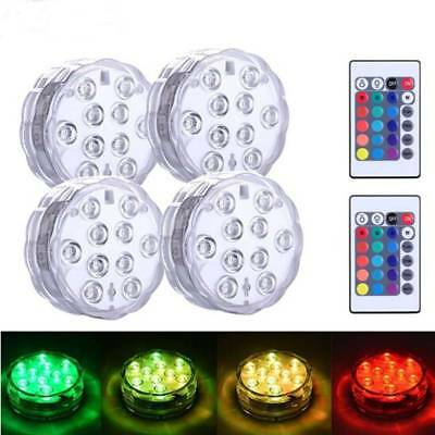 Waterproof RGB LED Underwater Fountain Light Swimming Pool Fish Tank Aquarium