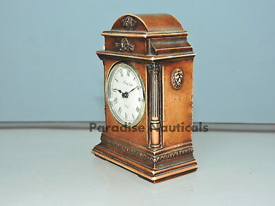 Antique English Mahogany & bronze Triple Fusee Musical 8 Bell Bracket Clock
