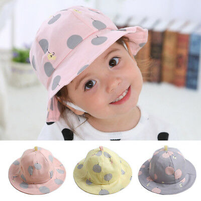 65cde75b05d Cute Baby Girl Hat Spring Summer Toddler Kids Girl Sun Hat Caps Polka Dot  Bucket