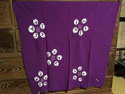 Japanese purple large FUROSHIKI wrapping cloth, SHIBORI (Nylon) - 82cm