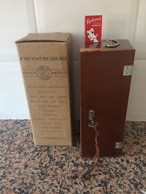 Vintage 1951 Student Microscope still in box - as new made in England
