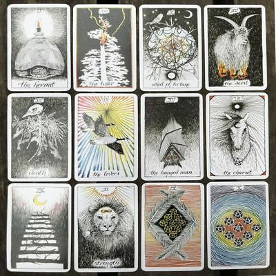 78pcs/Set The Wild Unknown Tarot Deck Rider-Waite Oracle Fortune Telling Cards
