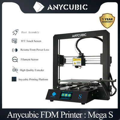 DE Stock ANYCUBIC Mega-S Upgrade 3D Printer with Extruder Ultrabase PLA /TPU/ABS