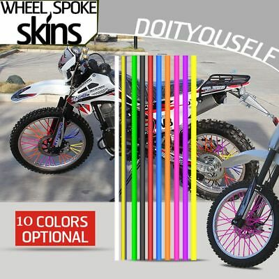 Motorcycle Decoration Bike Rims Skins Covers Protector Wheel Spoke Wraps