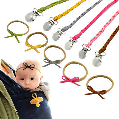 Dummy Baby Braided Infant Head band Nipple Holder Pacifier Clip Soother Chain