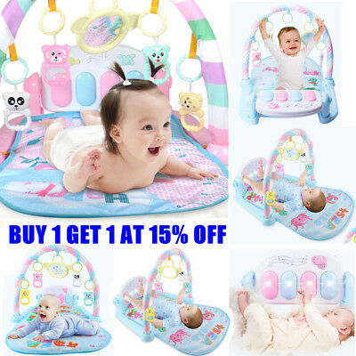 Baby Gym 3 in 1 Activity Play Floor Mat Fun Piano Lay & Play Toys Babies Playmat