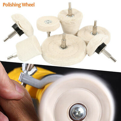 7x Polishing Buffing Pad Mop Wheel Drill Kit for Car Polisher Aluminum Stainless