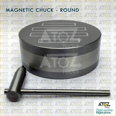 """6.1/2"""" Heavy Round Permanent Magnetic Chuck 165mm Strong Hold Powered Poles BEST"""