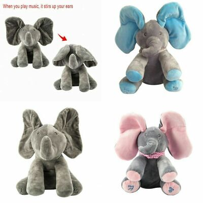 Peek-a-boo Singing Elephant Music Doll Plush Toy Stuffed Toys Kids Birthday Gift