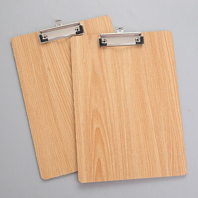 A4 Size Wooden Clipboard Clip Board School Stationery With Hanging Hole New Tnic
