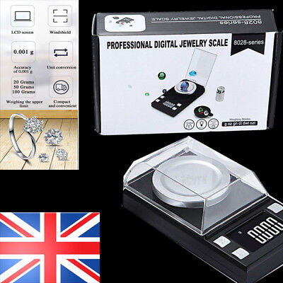 UK 100g/0.001g Digital Milligram Scale High Precision Jewelry Balance Gram Weigt