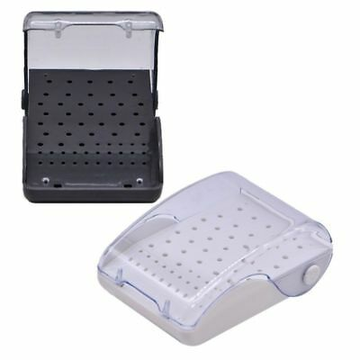 2 Pcs Dental Plastic Box 60 Holes Bur Burr Case Drills Disinfection Holder Stand
