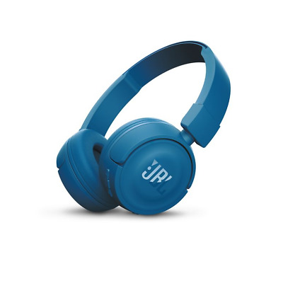 New Jbl T450Bt Wireless On Ear Bluetooth Headphones ( Blue )