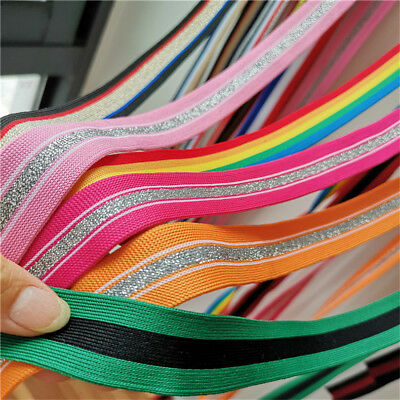 2Yards Colorful Ribbon Trims Knitting Stripes Sewing Pants Edge Hemline