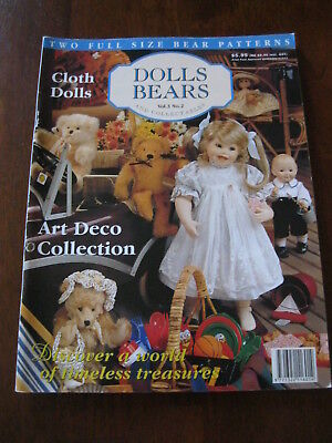 Dolls Bears & Collectables: Vol.3 No. 2: Pattern sheet attached :Preloved