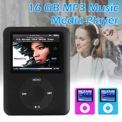 "iPod Style 1.8"" LCD 16GB 32GB MP3 MP4 Music Video Media Player With FM Radio"
