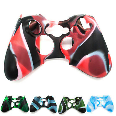 Wireless Controller For XBOX 360 Silicone Rubber Protective Skin Shell Case OLZY
