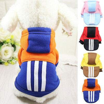 Pet Puppy Clothes Plush Dog Hoodie Jumper Winter Apparel Sweater Coat Jacket