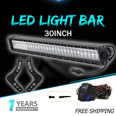 CREE 30INCH LED Work Light Bar 180W Driving Offroad For 2015 RZR 900 PK 32INCH