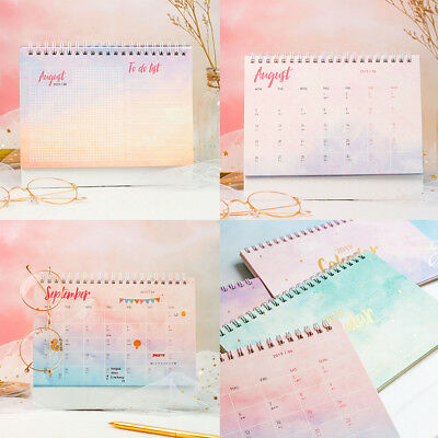 2019 Desktop Flip Calendar Stand Up Table schedule Planner Office Desk Plan AU