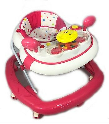 Baby Walker Car First Steps Activity Bouncer Musical Push Along Pink Blue Ride