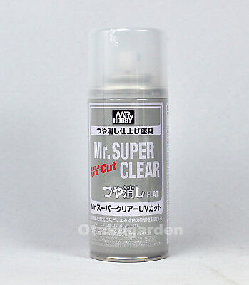 MR HOBBY SPRAY 170ml UV CUT SUPER CLEAR FLAT MATT B523 Free Shipping US ONLY