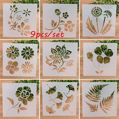 Wall Painting Scrapbooking Embossing Template Flower Pattern Layering Stencils