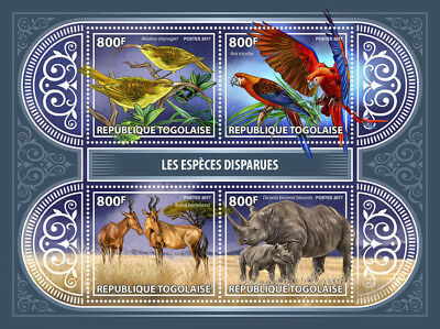 Z08 Tg17420a Togo 2017 Extinct Species MNH Mint