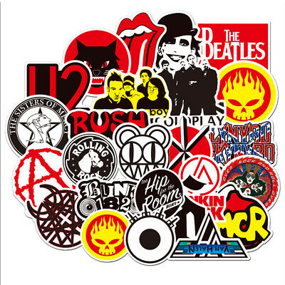 Lot of 50Pcs Punk Retro Metal Heavy Rock n Roll Vintage Music Band Stickers