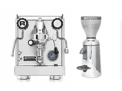 Rocket Appartamento Espresso Machine Coffee Maker & Simonelli Grinta Grinder Set
