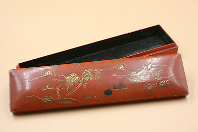 Antique Chinese Wooden Carved Lacquer Jewellery Storage Box