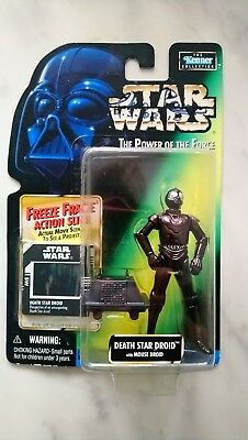 Hasbro Star Wars POTF Power Of The Force DEATH STAR DROID SIGNED CHRIS PARSONS