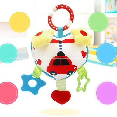 Baby Toys Rattles Cute Heart-shaped Stroller Music Hanging Bell Soft Toys N7