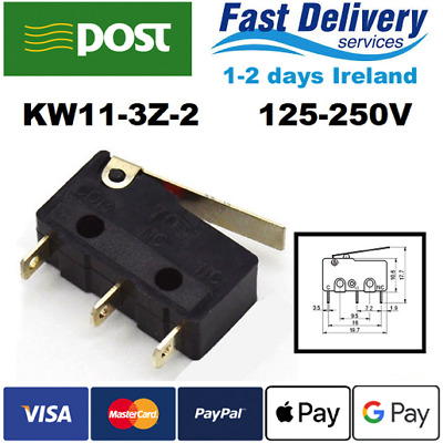 Micro Switch KW11-3Z-2 5A 125-250V SPDT 3pin 1/2/5/10pcs