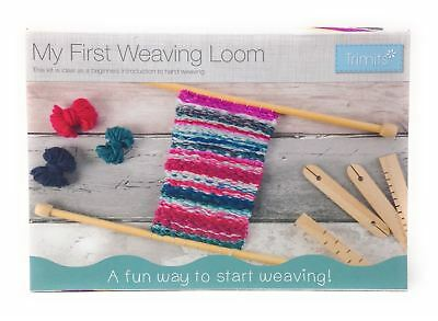 My First Weaving Loom Set Wooden Beginnners Sewing Craft Hobby Kit