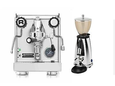 Rocket Appartamento Espresso Machine Coffee Maker & Elektra MSDC Grinder Set