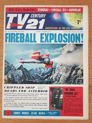 TV CENTURY 21 UNIVERSE ISSUE 40 VG Stingray/Daleks/Fireball XL5