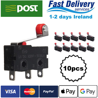 10x KW12-3 Micro Limit Switch Roller Lever 5A 125-250V Open/Close Switch KW11-N
